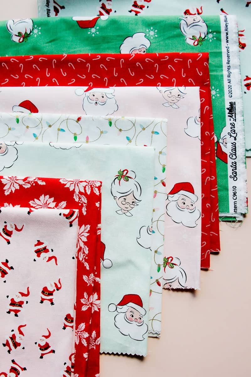 Santa Clause Lane Fabric Riley Blake