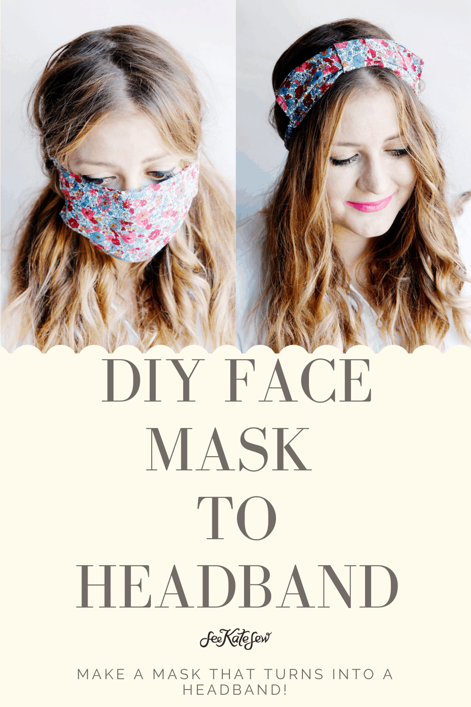 DIY Face Mask to Headband - convert your mask into a headband!