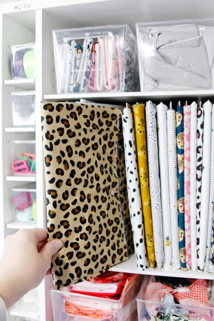 Store Fabric so you can see it