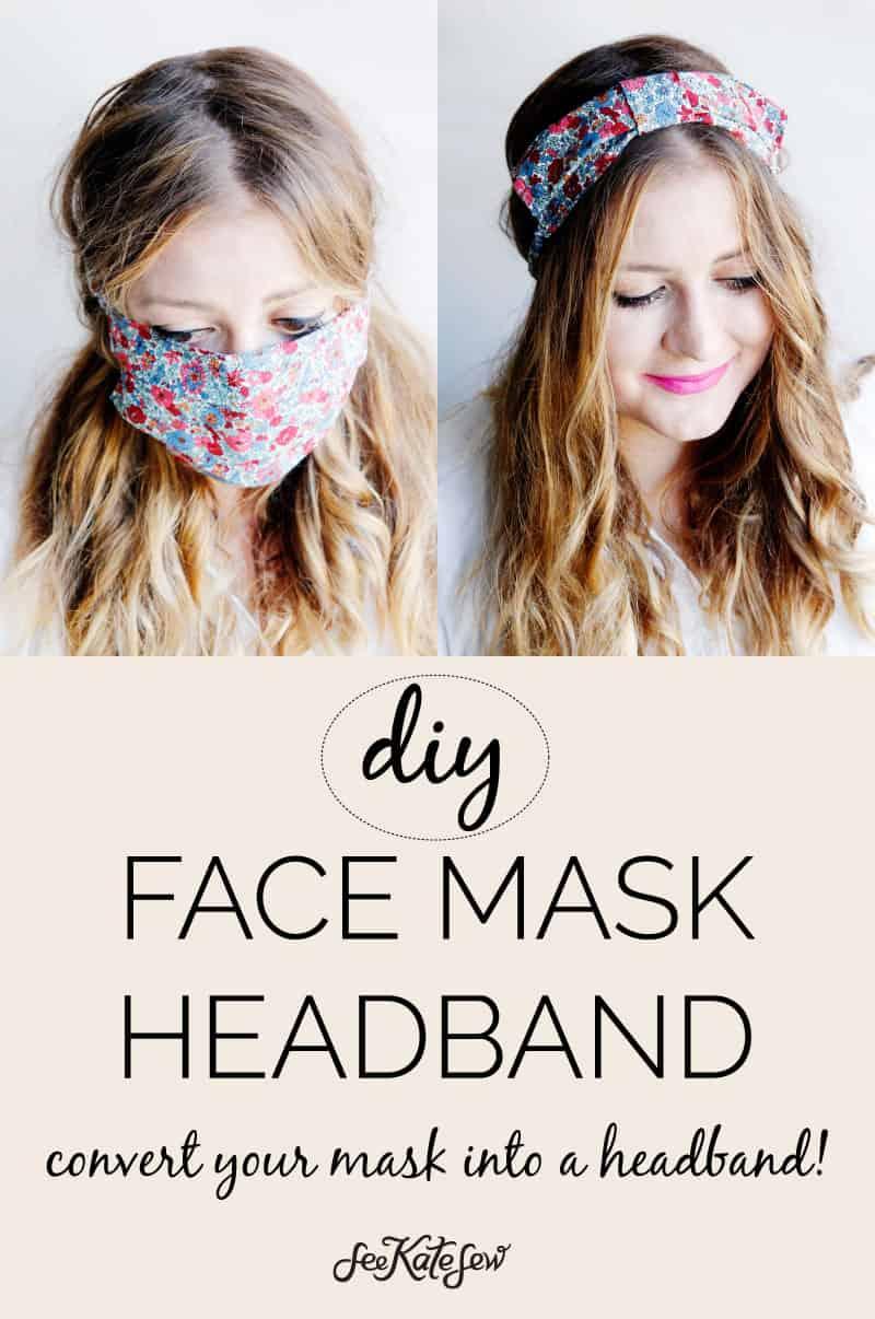 DIY Face Mask Headband | Make a mask that turns into a headband!