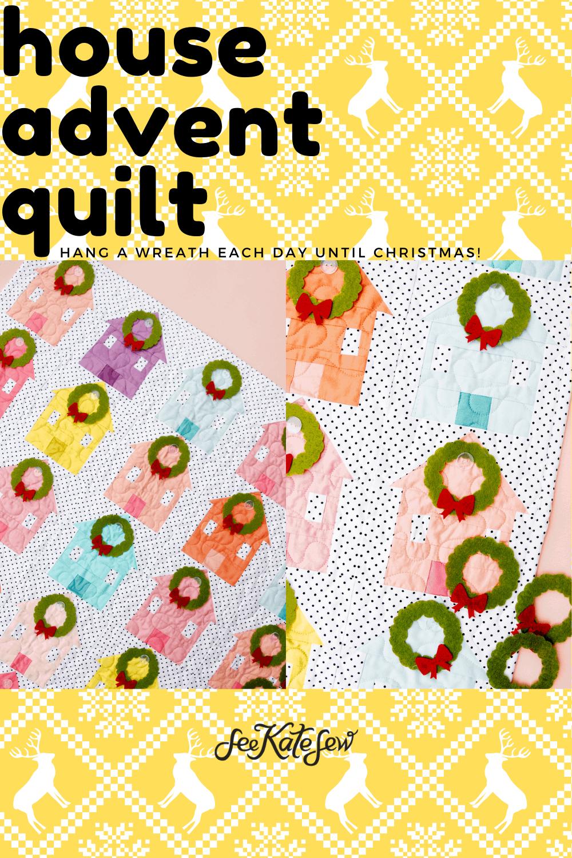 DIY House Quilt Block Calendar