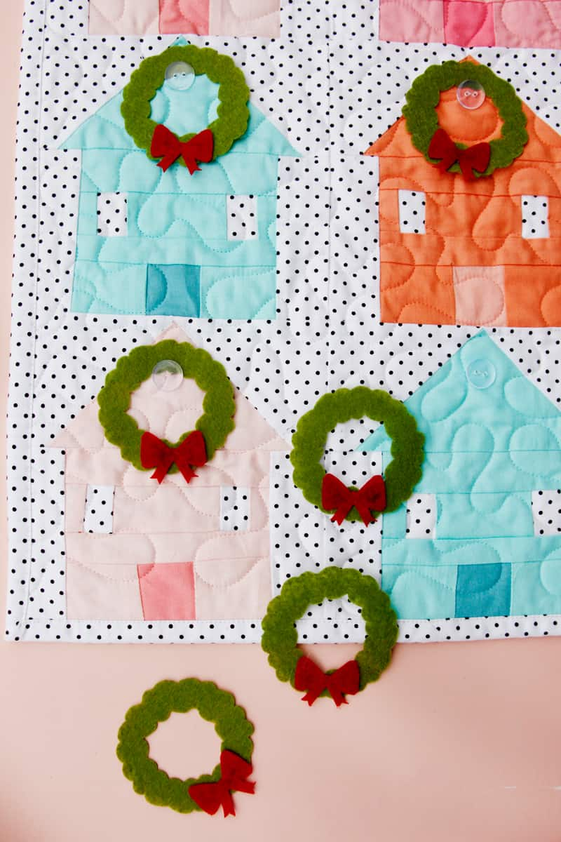 House Quilt Advent Sewing Pattern