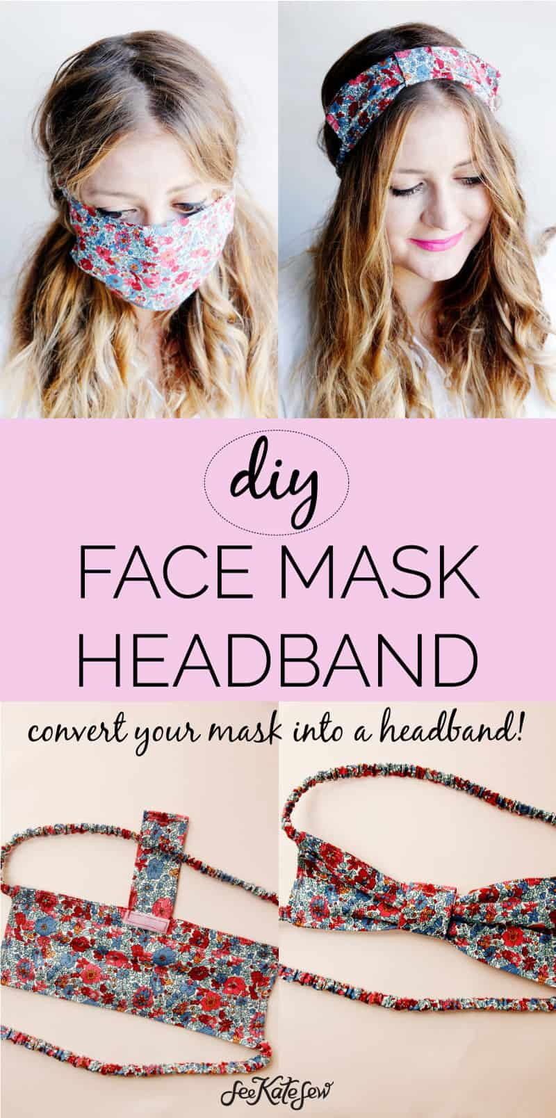Always have your face mask handy - make a mask that you can wear as a headband!