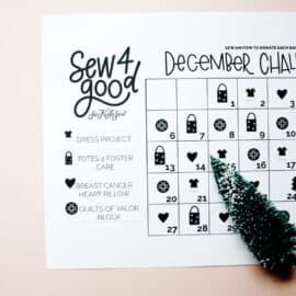 Sew4Good : Sew items to donate this holiday season!