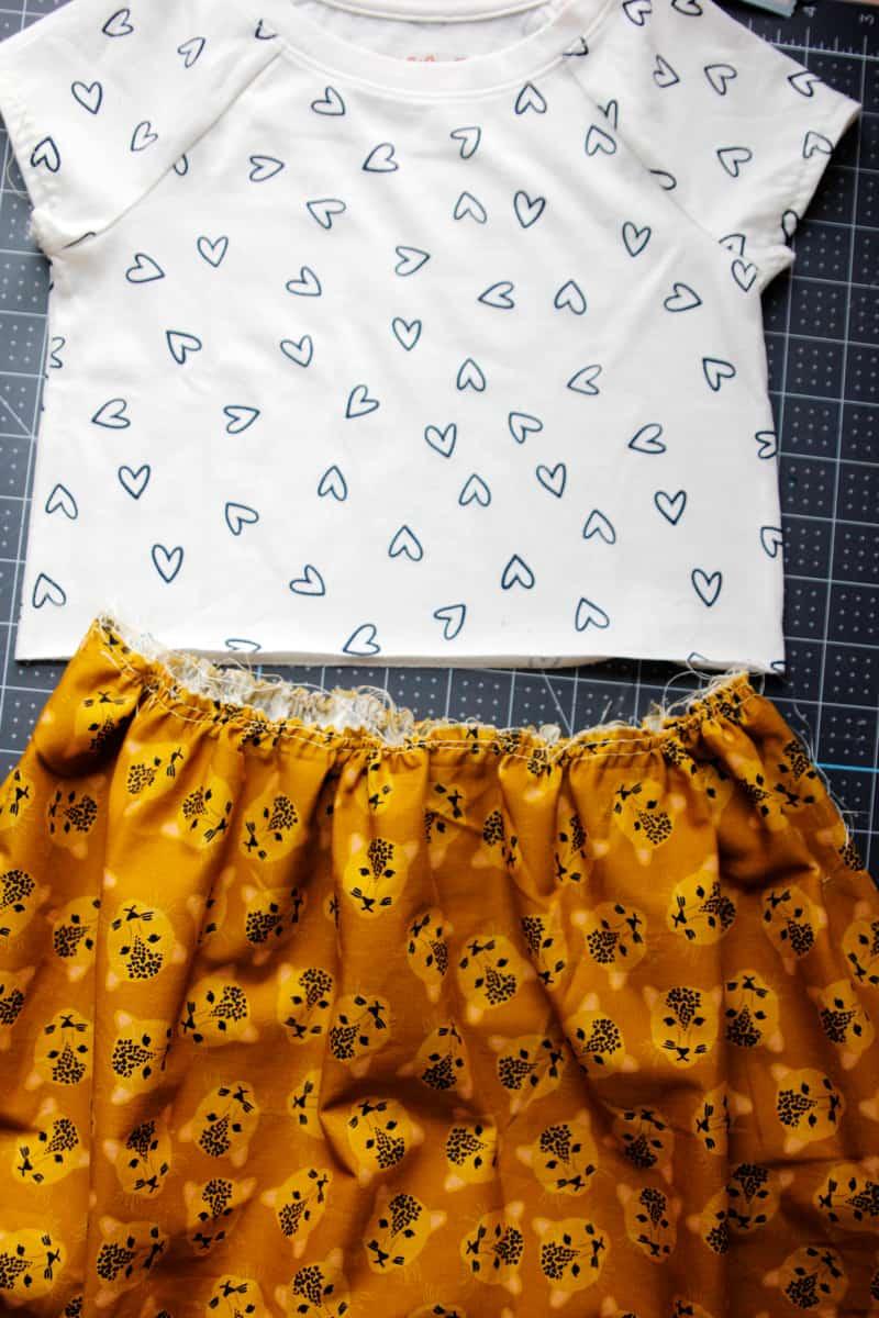 T-shirt Dress Tutorial with Skirt