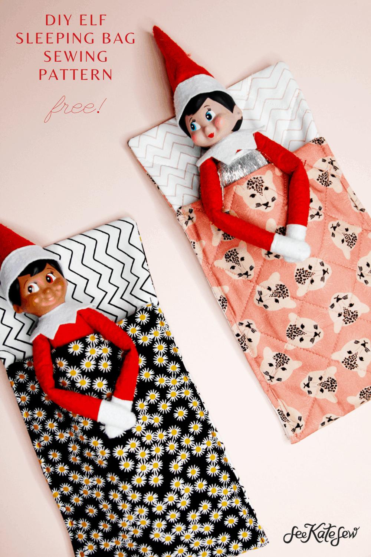 Free Sewing Pattern - Elf on the Shelf Sleeping Bag