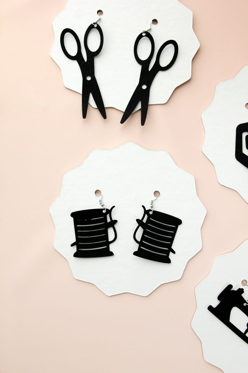 Leather Earrings with the Cricut Maker