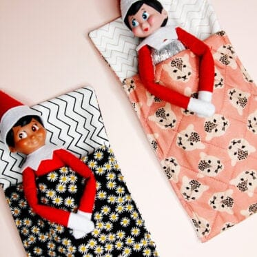 Elf on the Shelf Sleeping Bag Pattern