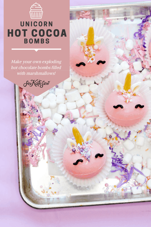 DIY Hot Chocolate Bombs Unicorn