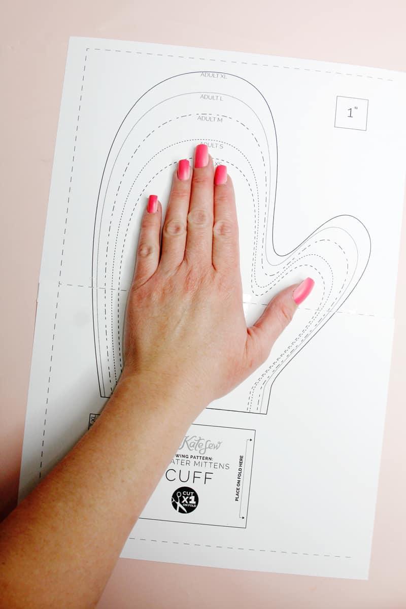 DIY Mittens Pattern - Free PDF Template Download - Sew Mittens
