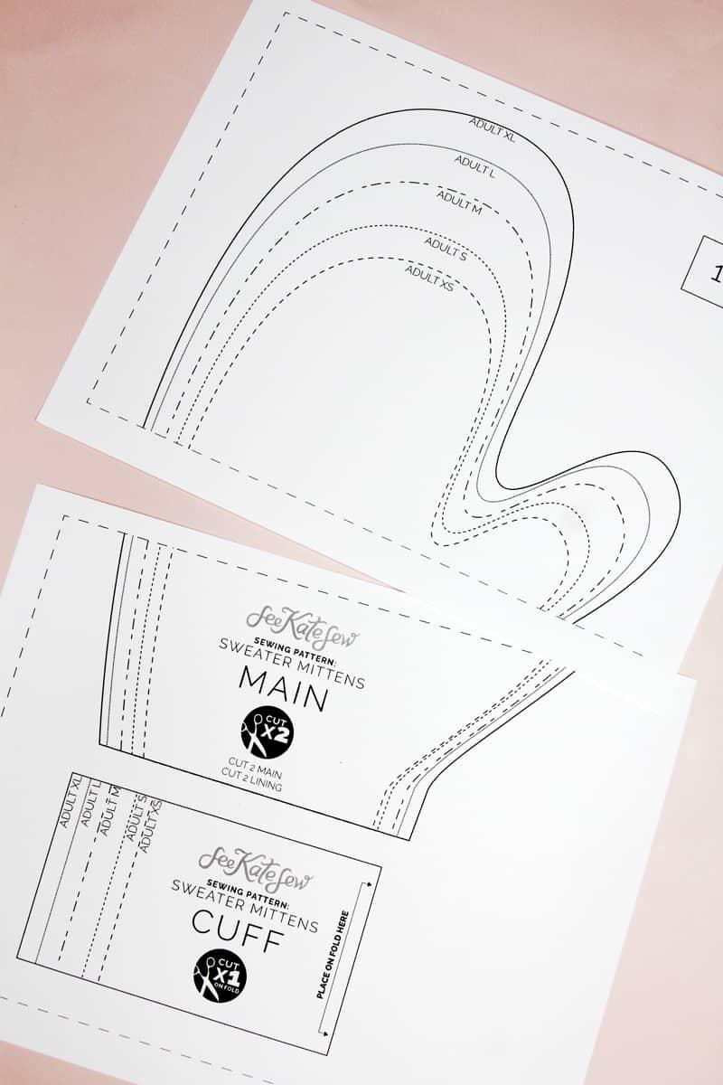 PDF Download Mitten Pattern | Mitten Pattern Sewing | How to make mittens