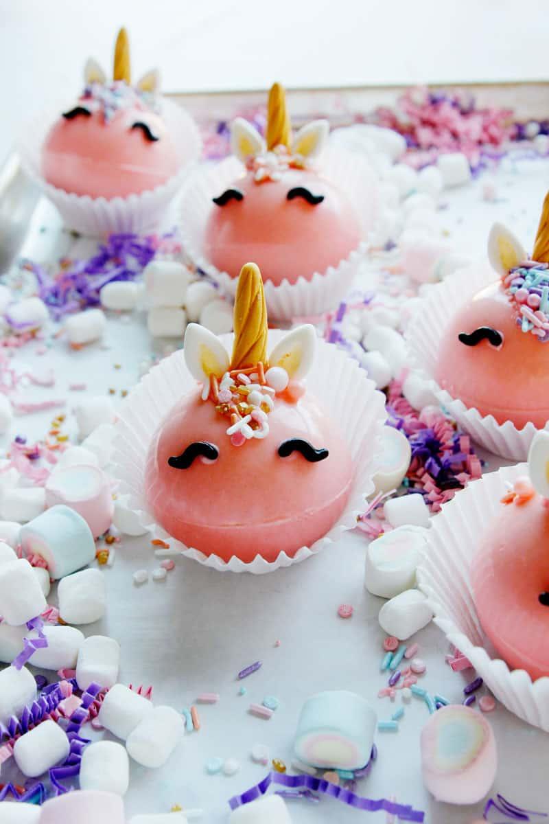 How to make hot chocolate bombs | Unicorn Pink hot chocolate bombs