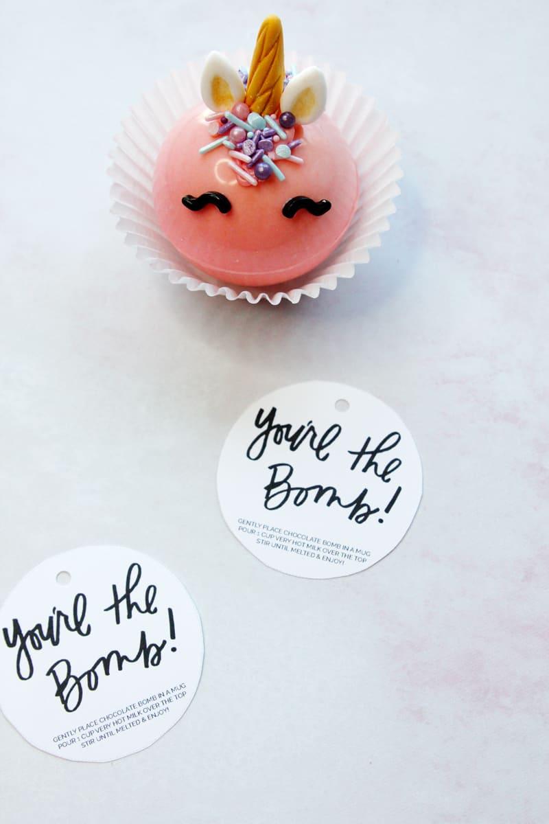 You're the Bomb Printable | Hot Chocolate Bomb Printable