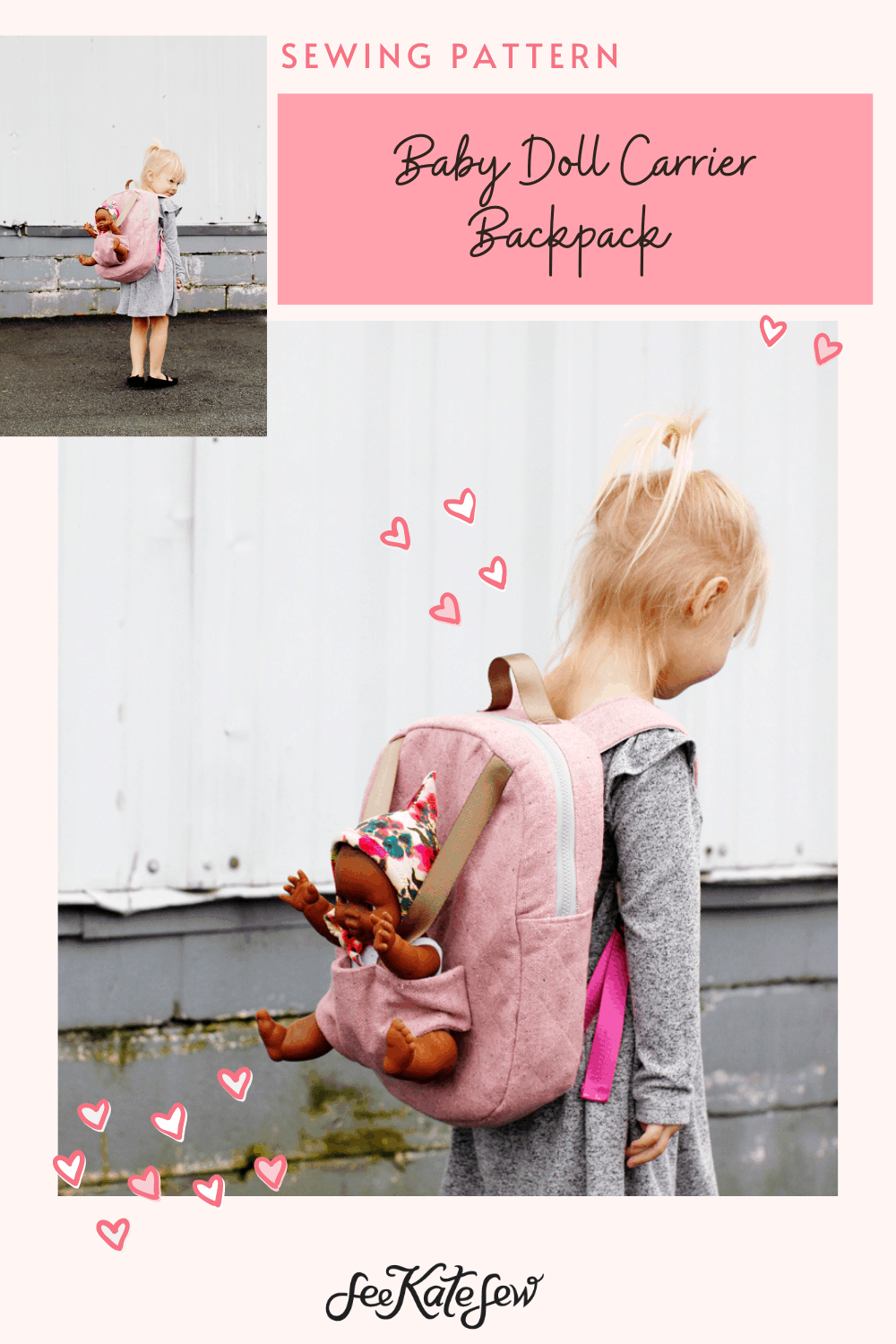 Make this doll carrier backpack