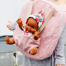 Cute Baby Doll Backpack Sewing Pattern