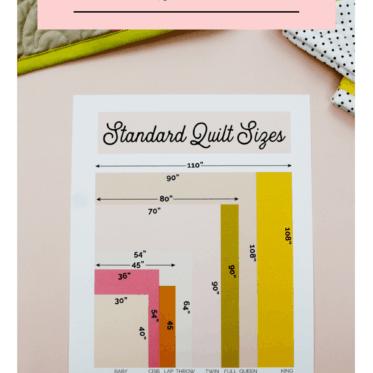 Standard Quilt Sizes Measurements