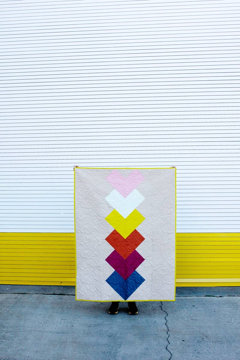 Learn to Quilt - Video Course | One-Patch Heart Quilt Pattern