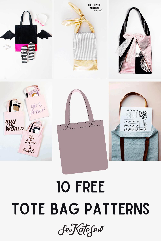 FREE Tote Bag Patterns To Sew