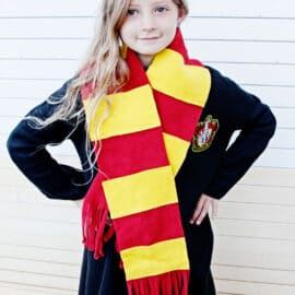 Harry Potter House Scarf Fleece No Sew DIY