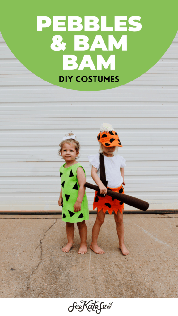 Pebbles & Bam Bam Costume Flintstones DIY