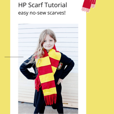DIY HP Scarf Tutorial | No Sew Fleece Scarf Pattern