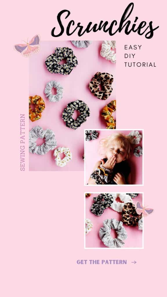 How to sew a scrunchie DIY Pattern