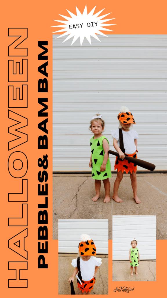 Pebbles & Bam Bam Costume Flintstones