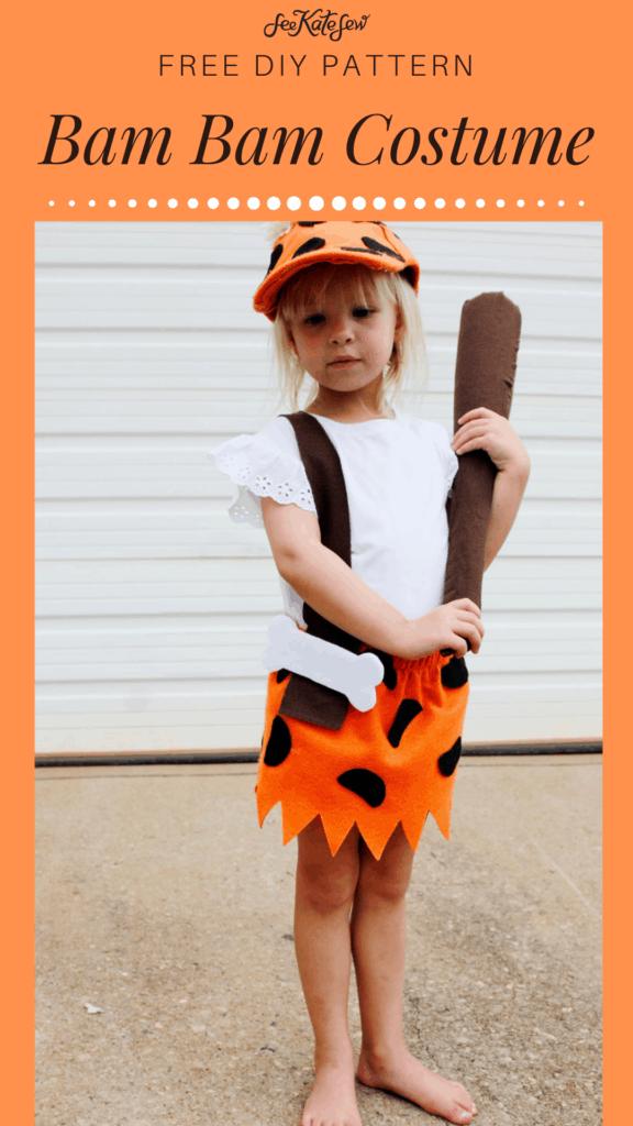 Bam Bam Costume Flintstones DIY