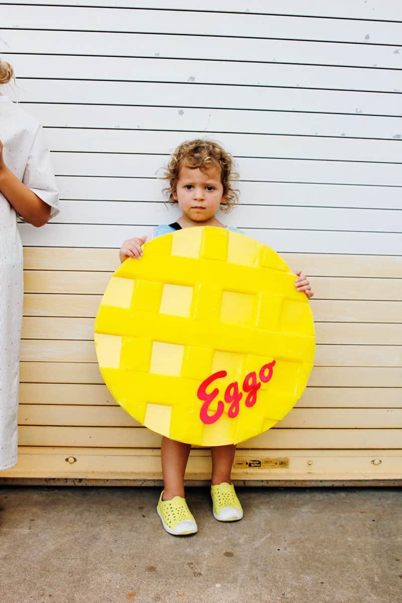 DIY Waffle Costume Stranger Things