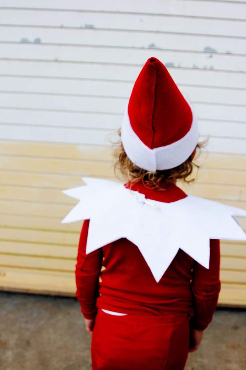 DIY Elf on the Shelf Kids Costume