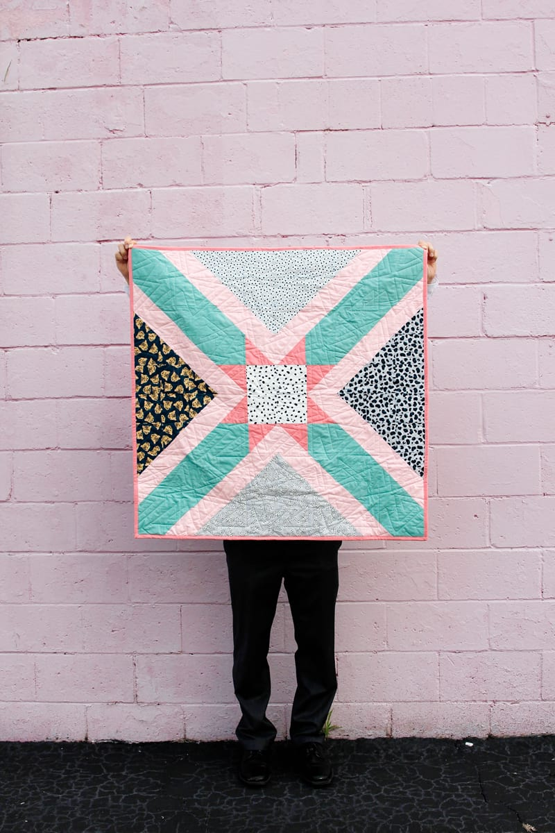 Star Baby Quilt Pattern   Easy to Sew